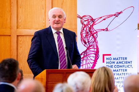 Bertie Ahern chided commentators who talk about people 'moving beyond Stormont'