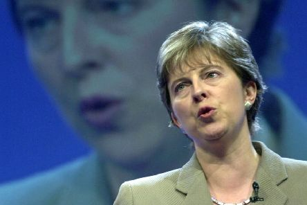 File photo dated 02/10/2000 of the then Shadow Education Secretary Theresa May during her speech at the Conservative Party Conference in Bournemouth. The Prime Minister is expected to announce details later today of her timetable for leaving Downing Street. PRESS ASSOCIATION Photo. Issue date: Friday May 24, 2019. See PA story POLITICS Brexit. Photo credit should read: Stefan Rousseau/PA Wire