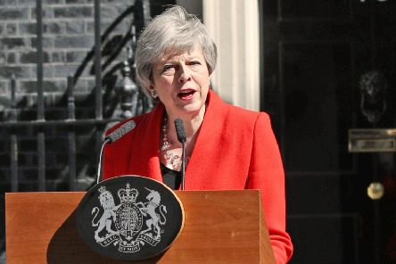 Prime Minister Theresa May announces her departure from outside No10