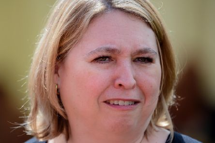 NI Secretary of State Karen Bradley pictured at a garden party this week