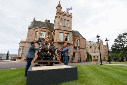 Salvador Dali's Lady Godiva sculpture being delivered to Culloden Estate and Spa in advance of the Art in the Garden exhibition, which opens on June 15 and runs until June 30.