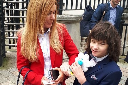 Charlotte Caldwell and her son Billy were at the High Court today in an attempt to get clearance for a GP to prescribe medicinal cannabis for his epilepsy