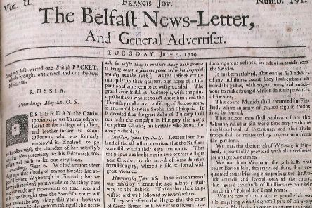 The Belfast News Letter of July 3 1739 (July 14 in the modern calendar)
