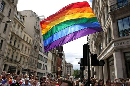 File photo dated 25/06/2016 of a rainbow flag