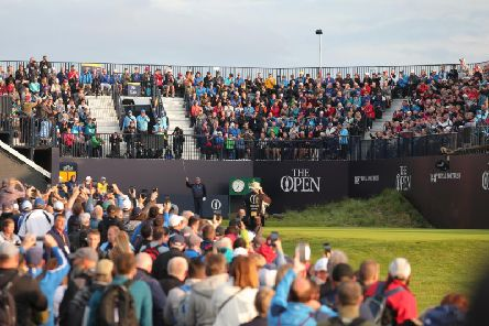 Crowds at the first day of the 148th Open Championship in Royal Portrush.