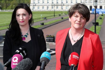 Emma Little Pengelly MP, above with DUP leader Arlene Foster, said Judith Thompson can still do the right thing