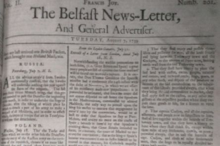 The Belfast News Letter of August 7 1739 (which is August 18 in the modern calendar)