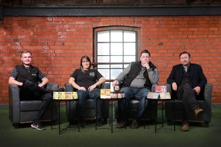 L-R: Connor Morgan, Oh So Lean, Steph Fulton, Wee ChoCo, Declan O'Donoghue, Erne Larder and David Grant, The Little Meat Company.