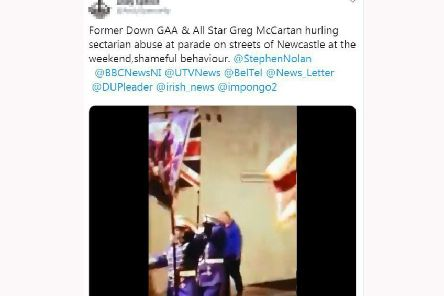 Ex-GAA player apologises after shouting 'vile' pro-IRA slogans at loyalist band