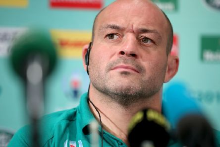 Ireland captain Rory Best in Japan ahead of facing Scotland. Pic by INPHO.