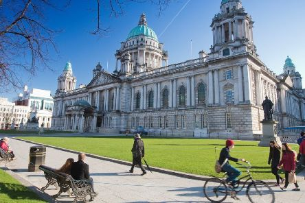 Belfast City Hall. Pic courtesy Northern Ireland Tourist Board.