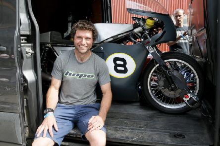 Guy Martin with his 750cc BSA at the Skerries 100 this year.