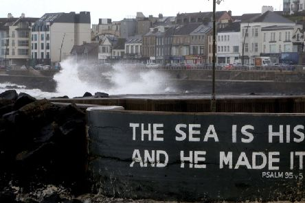 Massive waves break over Portstewart Promenade as a storm raged across the North Coast in September - Storm Lorenzo is expected to bring about similar scenes to this one. (Photo: Steven McAuley/McAuley Multimedia)