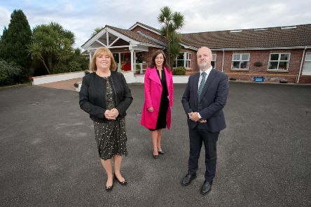 Gemma Jordan (centre), Senior Relationship Manager, Commercial Banking NI at Ulster Bank pictured with Lesley Megarity, Chief Executive and John-Paul Watson, Deputy Chief Executive at Domestic Care Group.