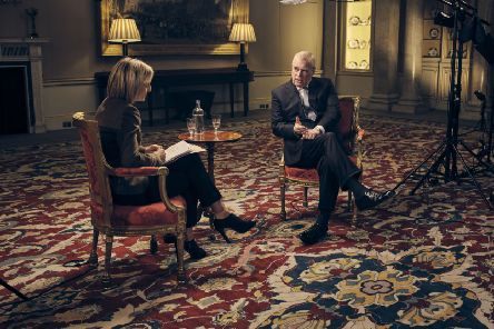 The Duke of York , speaking for the first time about his links to Jeffrey Epstein in an interview with BBC Newsnight's Emily Maitlis, broadcast by the BBC on Saturday. Photo: Mark Harrington/BBC/PA Wire