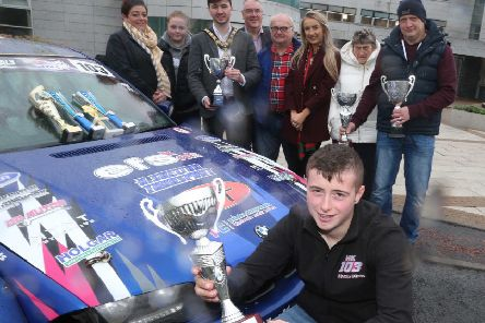 16-year-old Harry Kerr from Ballymoney was joined by friends and family members at a recent reception in Cloonavin hosted by the Mayor of Causeway Coast and Glens Borough Council Councillor Sean Bateson in recognition of his recent successes