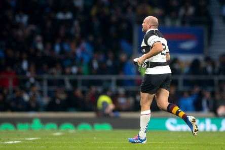The Barbarians' Rory Best leaves the field. Credit �INPHO/Andrew Fosker