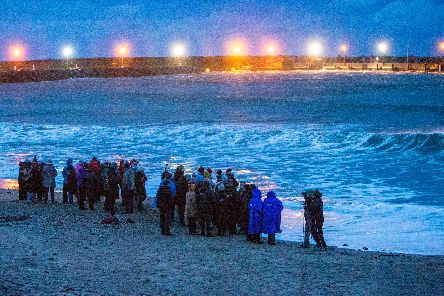 Deirdre McShane's friends and family hold emotional dawn vigil at  waters edge
