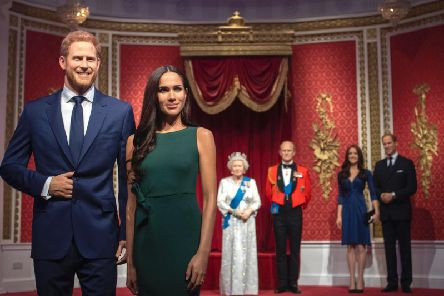"Madame Tussauds London moves its figures of the Duke and Duchess of Sussex from its Royal Family set to elsewhere in the attraction, in the wake of the announcement that they will take a step back as ""senior members"" of the royal family, dividing their time between the UK and North America. (Photo: Victoria Jones/PA Wire)"