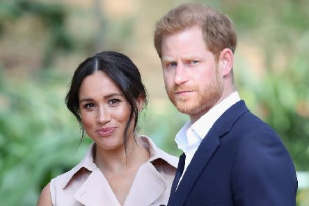 Prince Harry, Duke of Sussex and Meghan, Duchess of Sussex will no longer use 'HRH' titles but will not be stripped of them. (Photo by Chris Jackson/Getty Images)