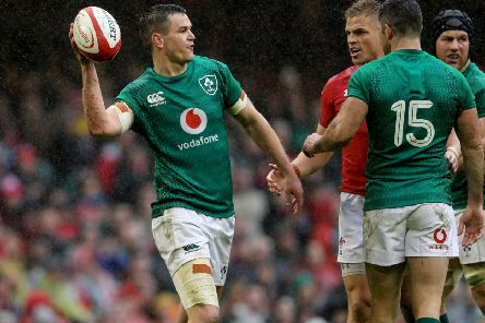 Ireland head coach Andy Farrell says Johnny Sexton is ahead of schedule in his recovery from a knee injury.