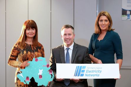 Valerie McConville, Head of Business Development, NI Chamber, Paul Stapleton, Managing Director, NIE Networks and Edel Creery, Head of Communications and Stakeholder Engagement, NIE Networks
