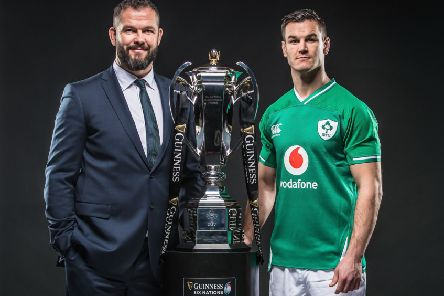Ireland head coach Andy Farrell and his captain, Johnny Sexton, at the Guinness Six Nations Championship launch in London's Tobacco Dock. Pic by INPHO.