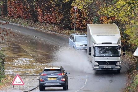 Flooding on the Hillhall Road near Lisburn on Wednesday after Northern Ireland seen heavy rain overnight. ''Picture by Jonathan Porter/PressEye