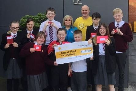 Pupils raised �900 for the worthy cause.