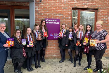 The pupils delivered the Easter eggs to the NI Children's Hospice.