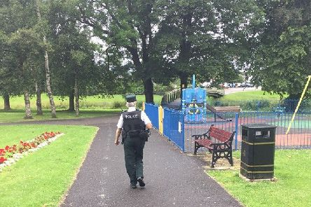 Officers conducted patrols in the Six Mile Water Park.