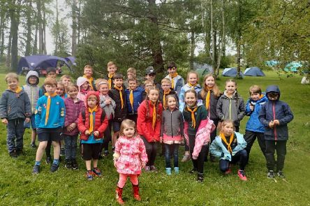 The Beaver and Cub sections pictured at Crawfordsburn Scout Centre last year.