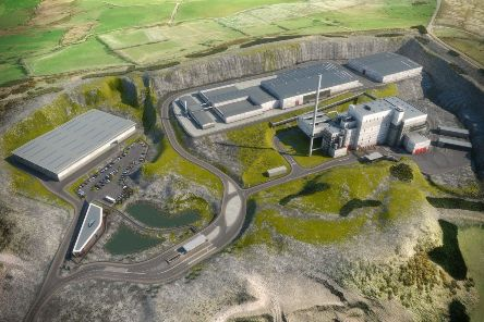 An artist's impression of the waste treatment plant.