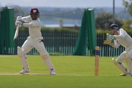 Saif Zaib on his way to a century for Saints against Rushton (Pictures: Dave Ikin)