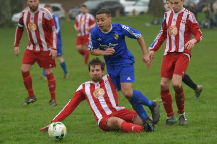 Action from Norteles' Nene Sunday League Premier Division win over Hartwell (Pictures: Dave Ikin)