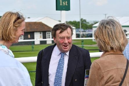 ALL SMILES - Nicky Henderson was a winner at Towcester on Monday (PIcture: David Yanez)