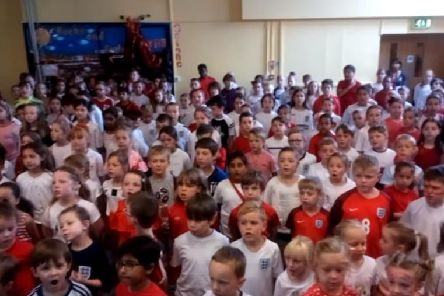 Wootton Primary School pupils singing their hearts out