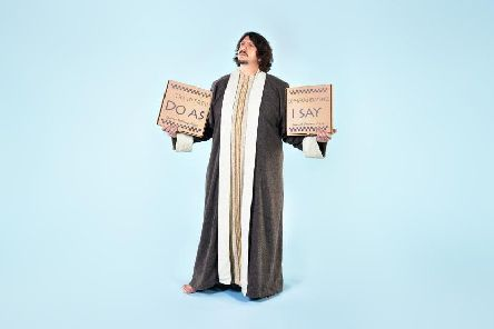 Jay Rayner is a 'culinary Moses' in The Ten (Food) Commandments. Picture by Levon Biss.