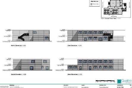Plans for the temporary block at Wootton Park School