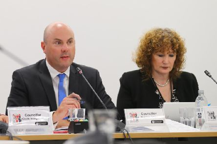 Council leader Matt Golby and chief executive Theresa Grant addressed the county council's recent failings at a press conference unveiling the latest budget proposals