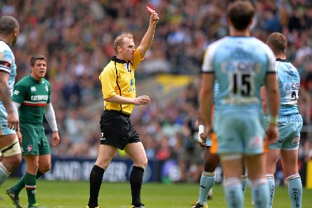 Wayne Barnes sent off Dylan Hartley in the 2013 Premiership final