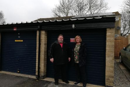 John Connolly and Ann Brooks' campaign to save the garages at Keswick Drive was not enough to convince councillors to refuse planning permission