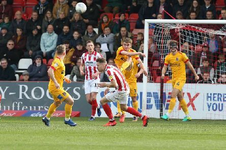 Ryan Hughes clears the ball. Picture: Pete Norton/Getty Images