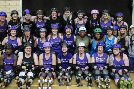 The Vendetta Vixens roller derby team are looking for new recruits (Picture: Kirsty Edmonds)