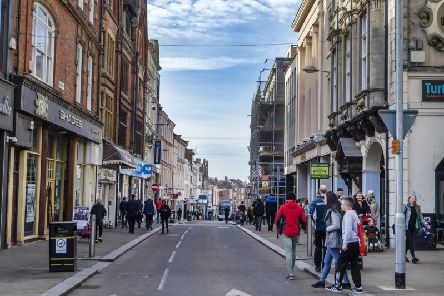 A man was attacked by a group of three in Gold Street during the afternoon in March.
