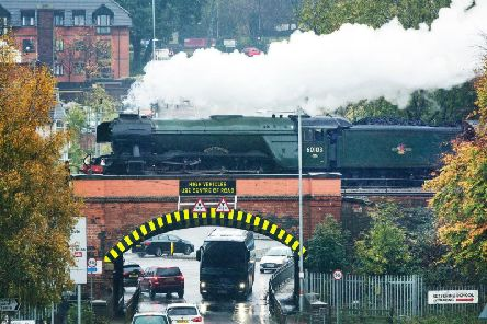 The Flying Scotsman steams through Kettering