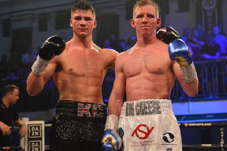 Kieron Conway (left) and Ted Cheeseman following their drawn fight on Friday night