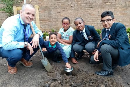 A time capsule was buried at Northampton International Academy to mark the school's official full launch.