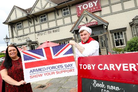 Toby Carvery is supporting Armed Forces Day