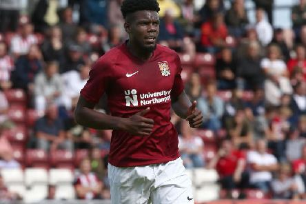 Curtis Yebli started for the Cobblers in Saturday's 2-0 defeat to Sheffield United (Pictures: Pete Norton)